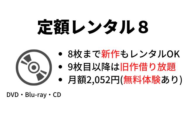 TSUTAYA-DISCAS 定額レンタル8の紹画像