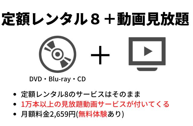 TSUTAYA DISCASの定額レンタル8+動画見放題プランの紹介